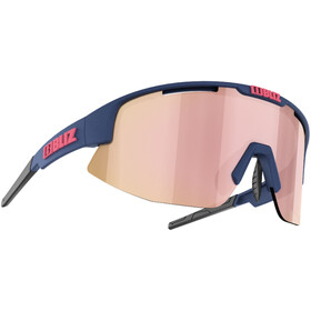 Bliz Matrix M11 Glasses for Small Faces, matt dark blue/brown with gold rosé multi